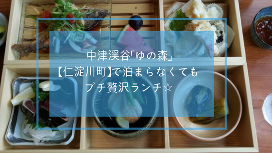 中津渓谷「ゆの森」(仁淀川町)で泊まらなくてもプチ贅沢ランチ☆
